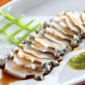Sashimi abalone recipe.